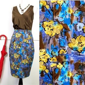 Plenty by Tracy Reese Floral Pencil Skirt Sz 6
